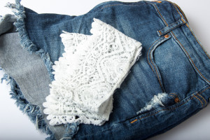 Material Jeansshorts
